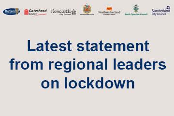 Latest statement from regional leaders on lockdown