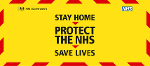 Coronavirus poster Stay home, protect the NHS, save lives