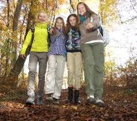 Outdoor learning young people