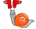 Featherbed Tales snail with boots