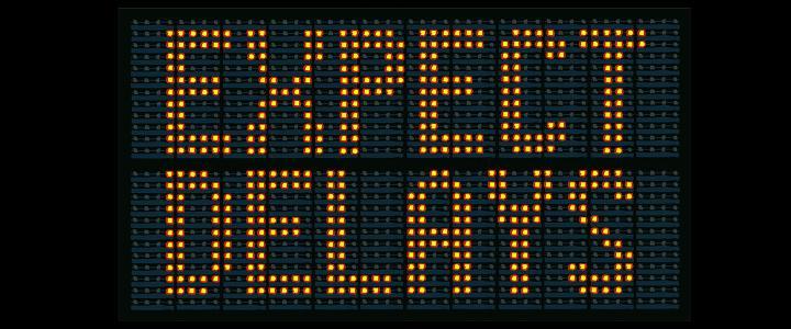 Roadworks - expect delays - mobile version