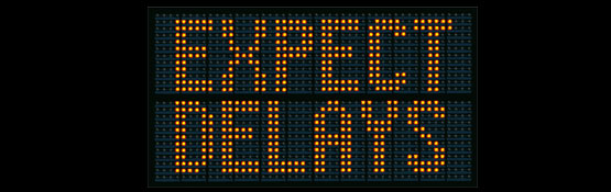 Roadworks - expect delays