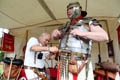 Frank Jones and Stewart Purdie from the Nordmanni Living history group Binchester Roman Fort, July 2015