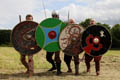 Members of the Nordmanni living history group Binchester Roman Fort, July 2015