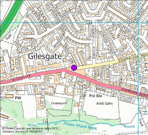 Gilesgate camera location map