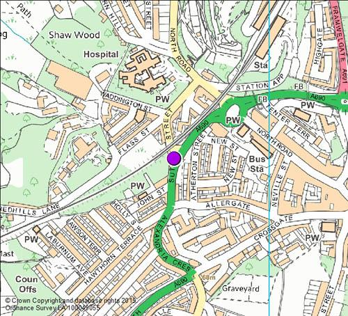 Sutton Street camera location map