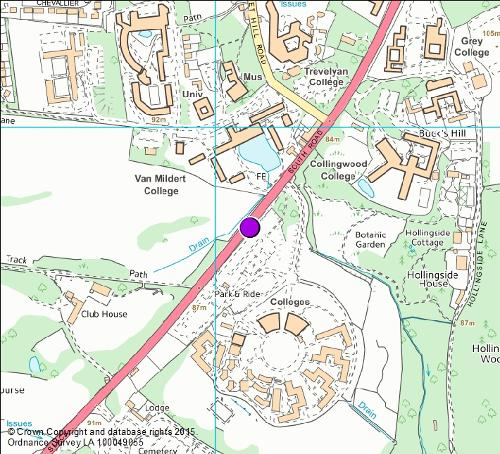 A177 South Road camera location map