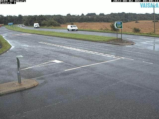 A689 Bradbury weather camera image